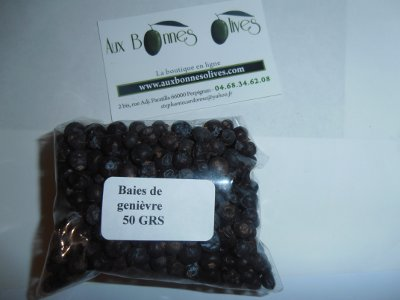 Genièvre  grains 50 grs