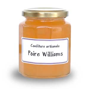 Confiture poires williams