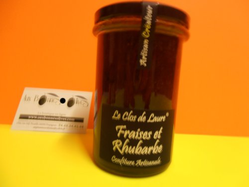 Confiture Fraise/Rhubarbe 340 grs laure