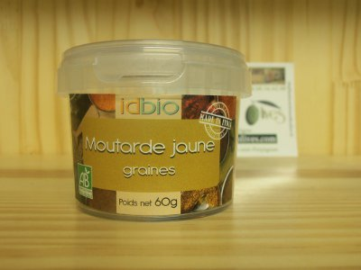 Moutarde jaune Bio Graines 60 grs